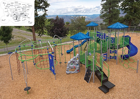 PlaySteel FIT Playground Structure - Model B306612