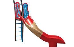 Freestanding 6ft Starglide Veer Left Playground Slide