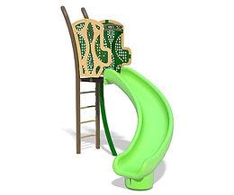 Freestanding 5ft Twister Playground Slide