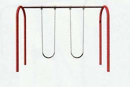 Playground Arch Swing Set - 10 Foot