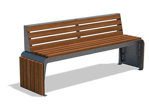 Vista Hudson Series Bench - Wood, Model H1HSSI6