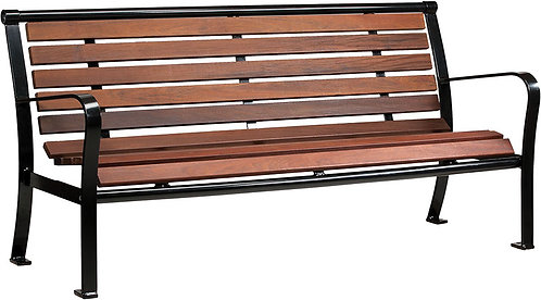 Vista Superior Series Wood Bench with Back