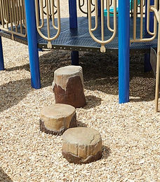 Nature Playground Log Steppers