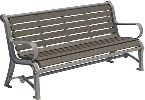 Vista Huron Series Bench - Wood, Model HHR6