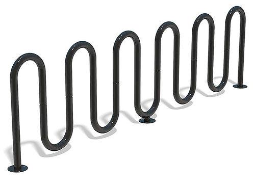Six Wave Bicycle Rack - Model BR118-S