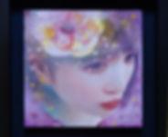 13花かざり 273×273㎜ 2019年 額装.JPG