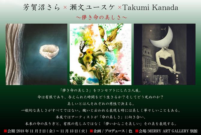 2018/11/2~11/13【芳賀沼さら×瀬文ユースケ×TakumiKanada ~儚き命の美しさ~】