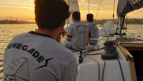 July 24th: Sunset sail for Skipper Andrew's birthday