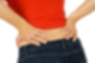 Woman at chiropractor with back pain