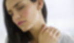 Woman with neck pain at chiropractor