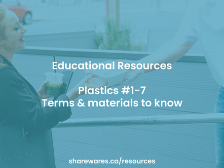 MATERIAL SELECTION (Plastics # 1-7 plus terms and materials to know)