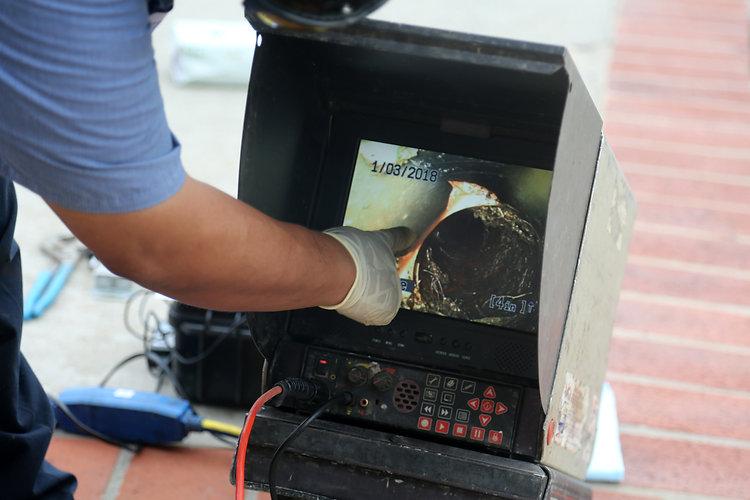 plumbers sewer snake camera. a snake cam