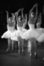 Ballerinas in black and white