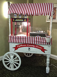 popcorn candy flosss cart wedding party