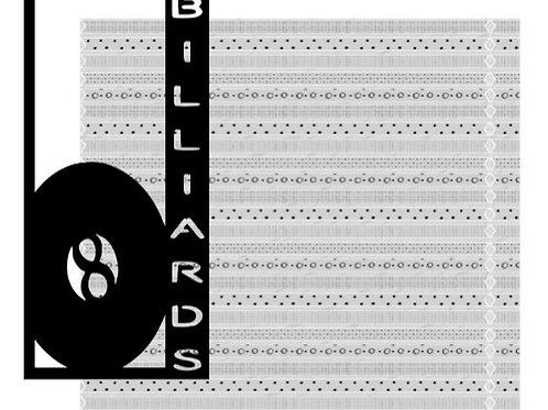 Billiards Vertical Scrapbook Title