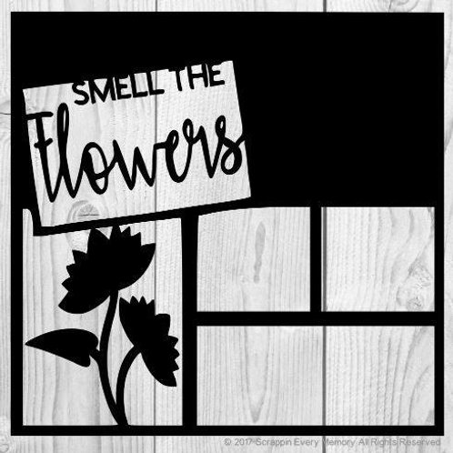 Smell The Flowers Scrapbook Overlay