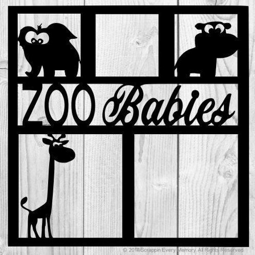 Zoo Babies Scrapbook Overlay