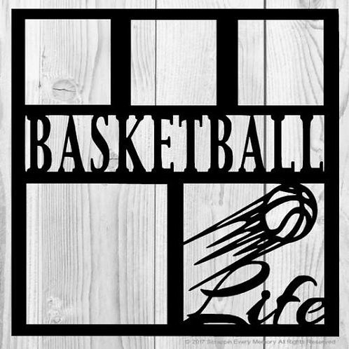 Basketball Life Scrapbook Overlay