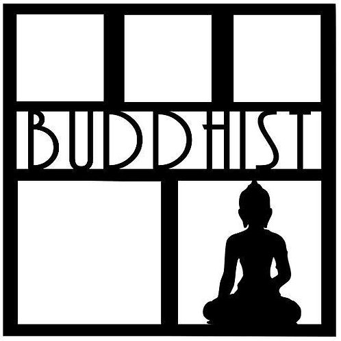 Buddhist Scrapbook Overlay