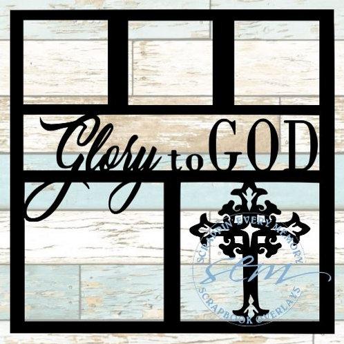Glory To God Scrapbook Overlay