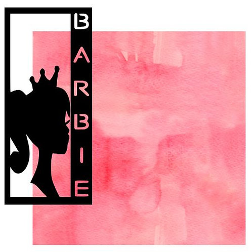 Barbie Vertical Scrapbook Title