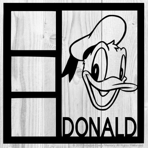 Donald Scrapbook Overlay