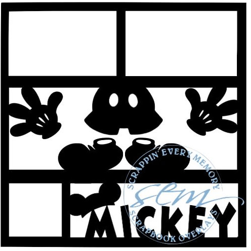 Mickey Scrapbook Overlay