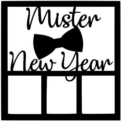 Mister New Year Scrapbook Overlay