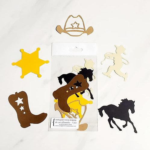 Western Theme Die Cut Silhouette Mini Set