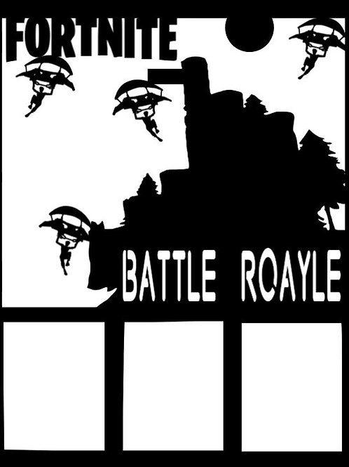 Fortnite Battle Roayle Scrapbook Overlay