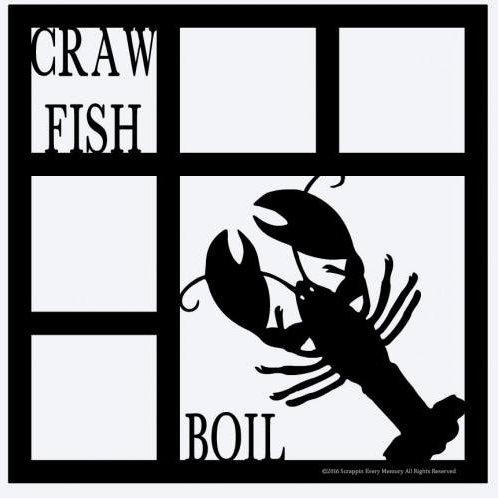 Craw Fish Boil Scrapbook Overlay