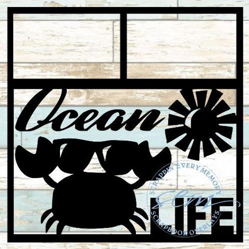 Ocean Life Scrapbook Overlay