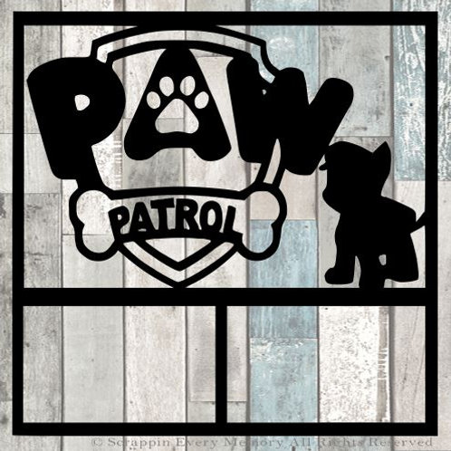 Paw Patrol Scrapbook Overlay