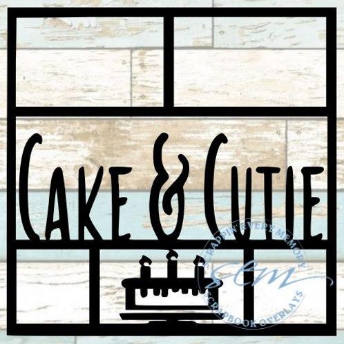 Cake and Cutie Scrapbook Overlay