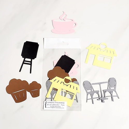 Coffee Shop Die Cut Silhouette Mini Set