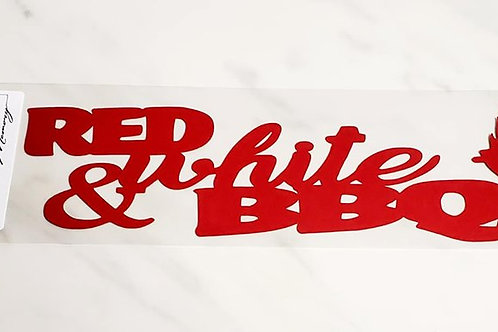 Red White and BBQ Scrapbook Deluxe Die Cut