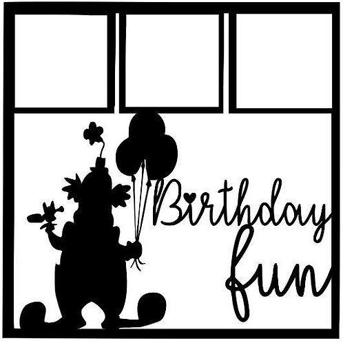 Birthday Fun Scrapbook Overlay