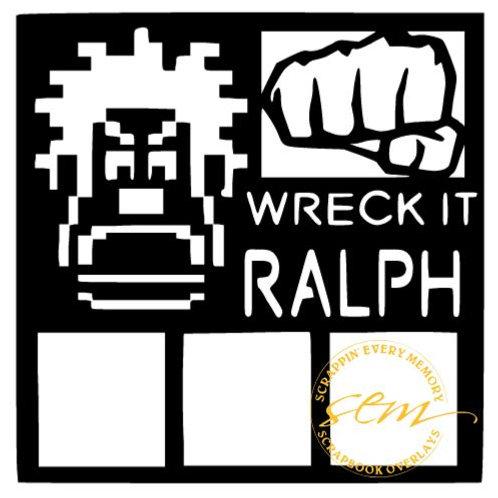Wreck It Ralph Scrapbook Overlay