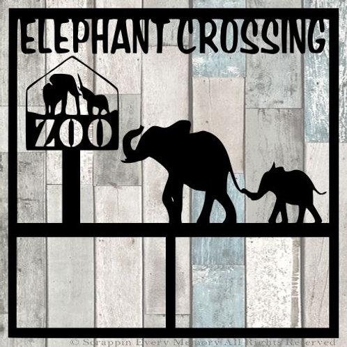 Elephant Crossing Scrapbook Overlay