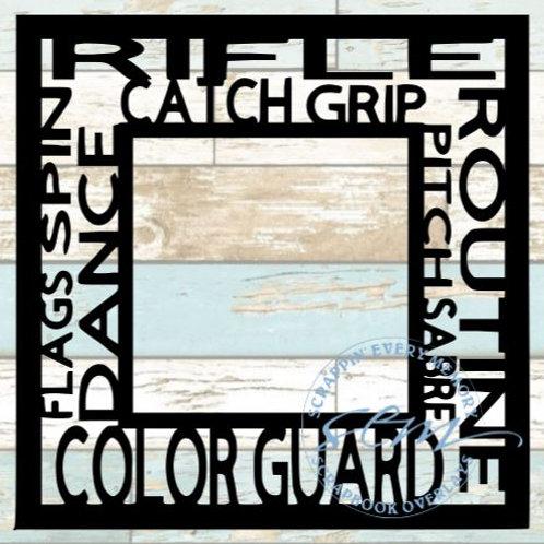 Color Guard Tag Text Scrapbook Overlay