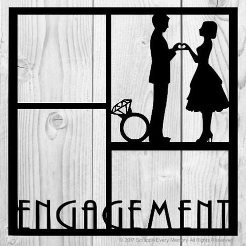 Engagement Scrapbook Overlay