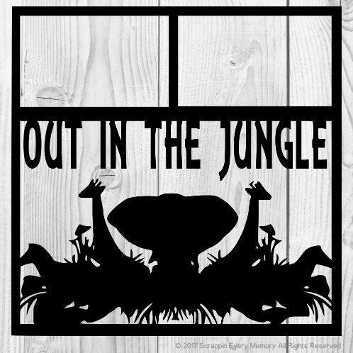 Out In The Jungle Scrapbook Overlay