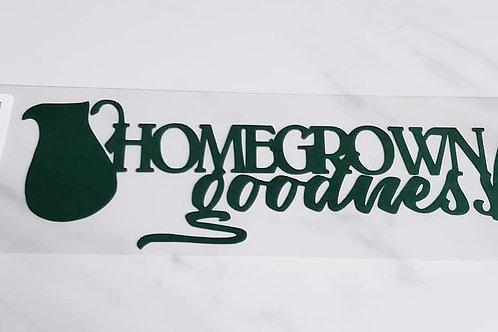 Homegrown Goodness Scrapbook Deluxe Die Cut