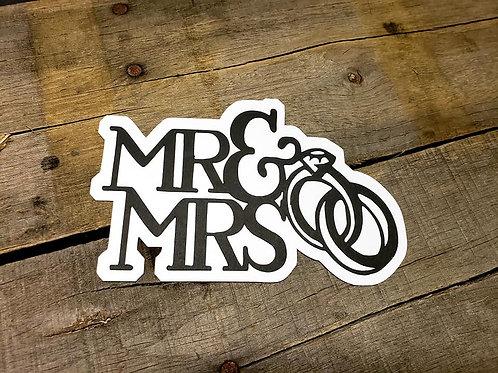 Mr & Mrs Paper Piecing Die Cut