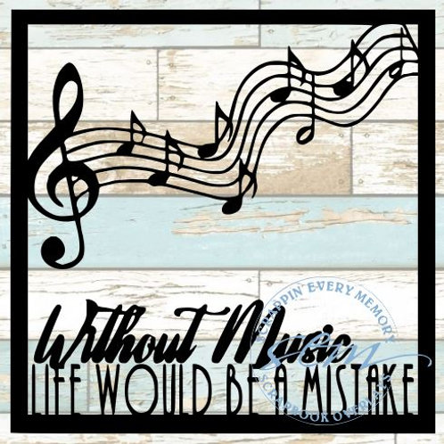 Without Music Life Would Be A Mistake Scrapbook Overlay
