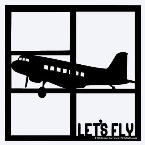 Let's Fly Scrapbook Overlay