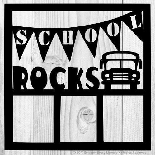 School Rocks Scrapbook Overlay