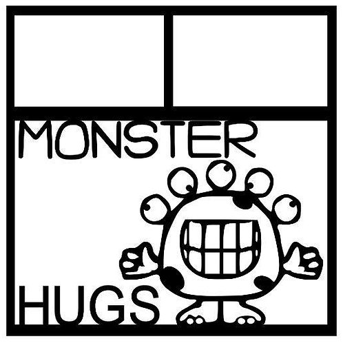 Monster Hugs Scrapbook Overlay