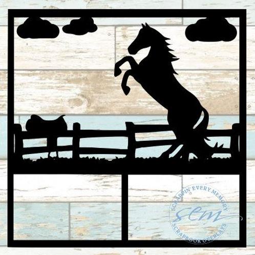 Horse Farm Scrapbook Overlay