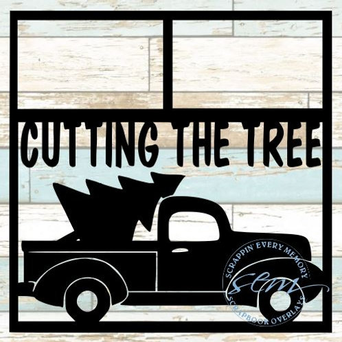 Cutting The Tree Scrapbook Overlay